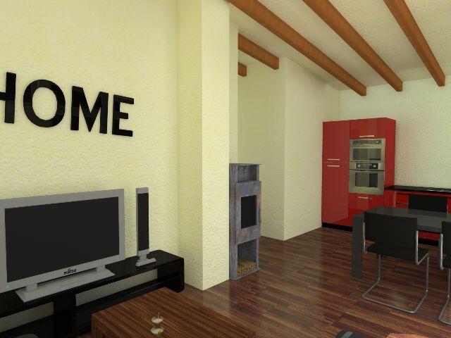 Haus mit Pultdach Pult 02 - Wohnbereich