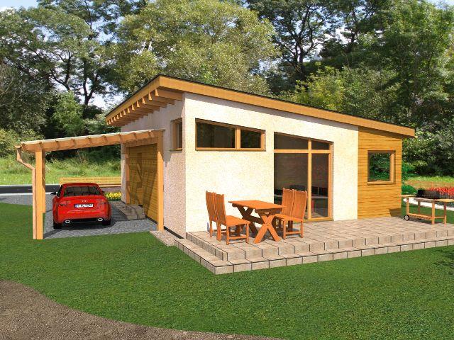 Haus mit Pultdach Pult 04 - Gartenansicht