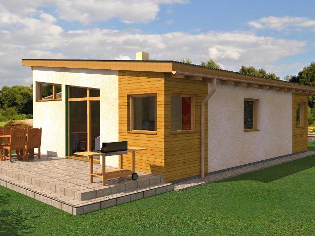 Haus mit Pultdach Pult 04 - Terrasse