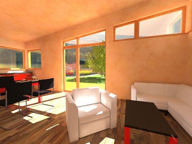Haus mit Pultdach Pult 04 - Wohnbereich