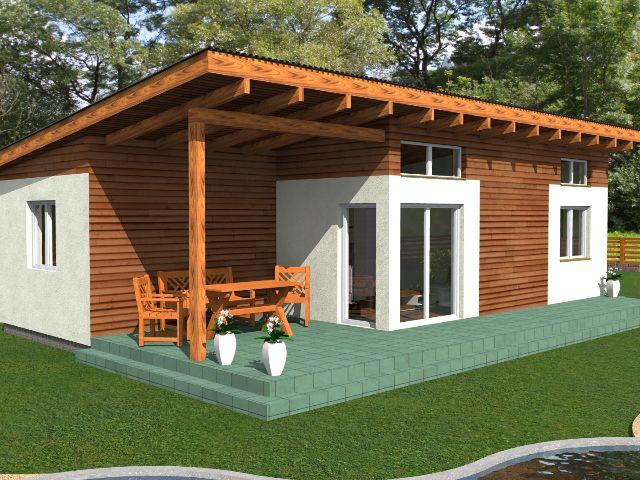 Haus mit Pultdach Pult 05 - Terrasse