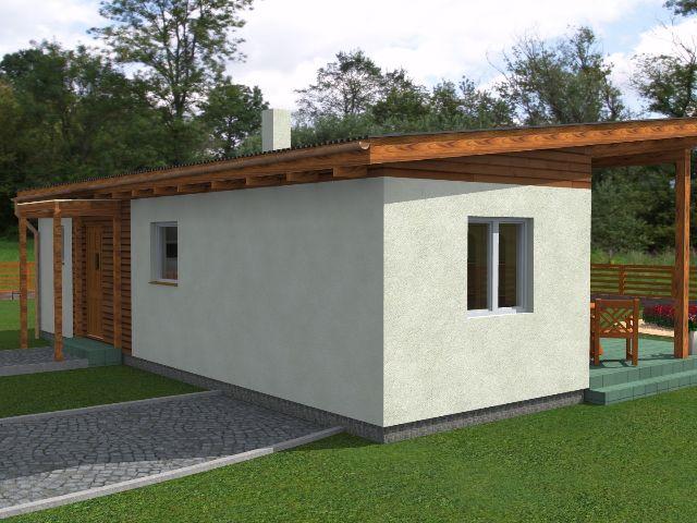 Haus mit Pultdach Pult 05 - Seitenansicht