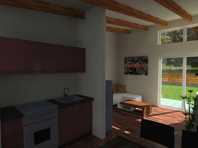 Haus mit Pultdach Pult 05 - Küchenbereich