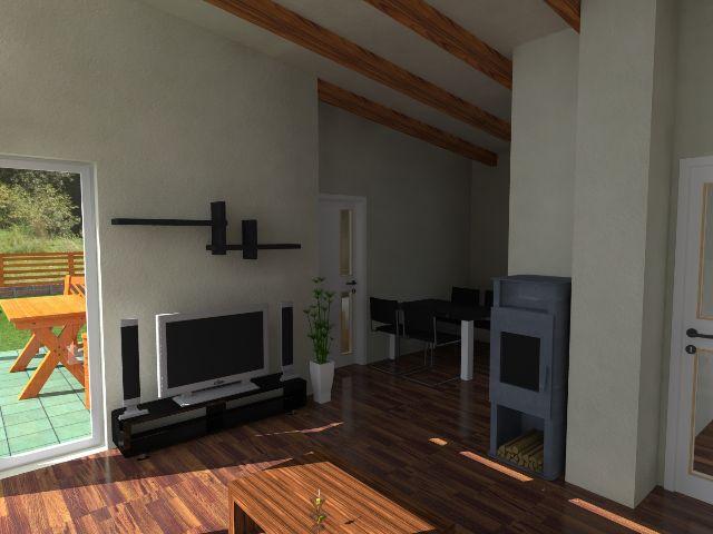Haus mit Pultdach Pult 05 - Wohnbereich