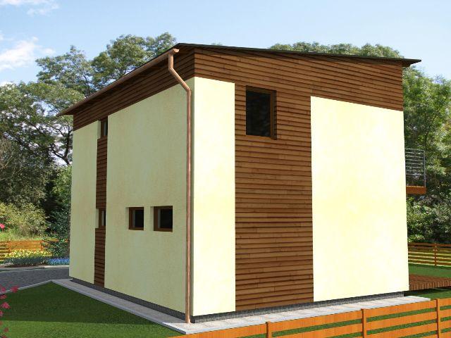 Haus mit Pultdach Trendhaus 01 - Seitenansicht