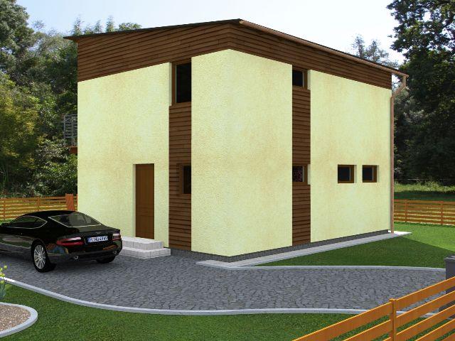 Haus mit Pultdach Trendhaus 01 - Hauseingang