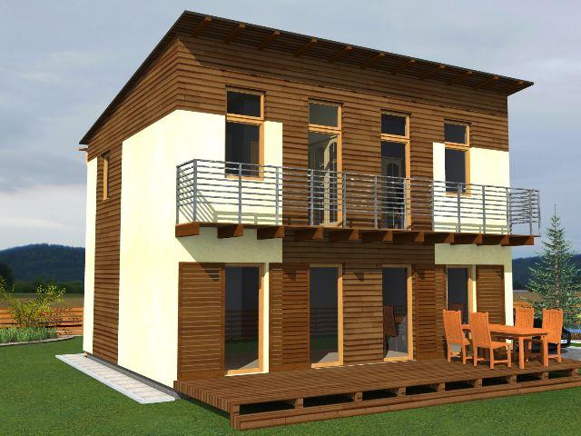 Haus mit Pultdach Trendhaus 01 - Balkon & Terrasse