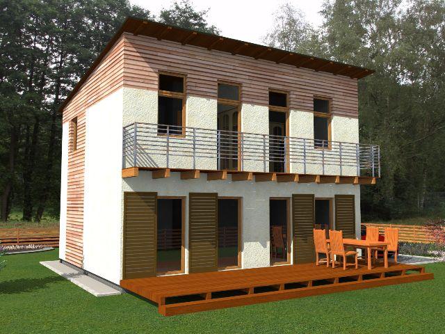 Haus mit Pultdach Trendhaus 02 - Balkon & Terrasse