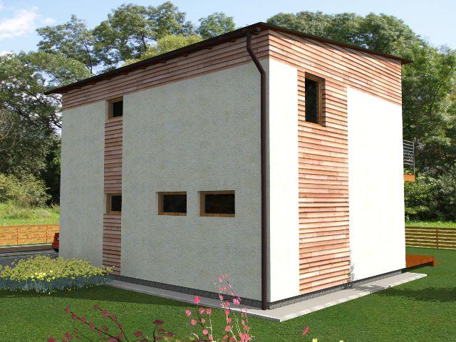 Haus mit Pultdach Trendhaus 02 - Seitenansicht