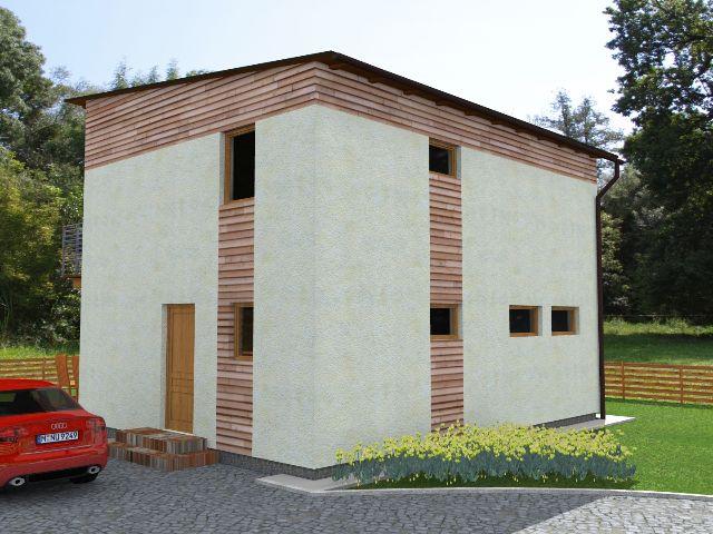 Haus mit Pultdach Trendhaus 02 - Hauseingang