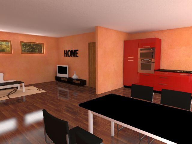 Haus mit Pultdach Trendhaus 02 - Wohn- und Essbereich