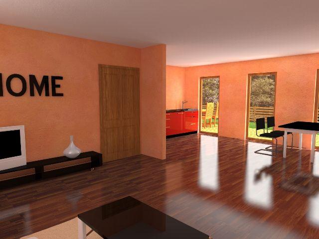Haus mit Pultdach Trendhaus 02 - Wohnbereich