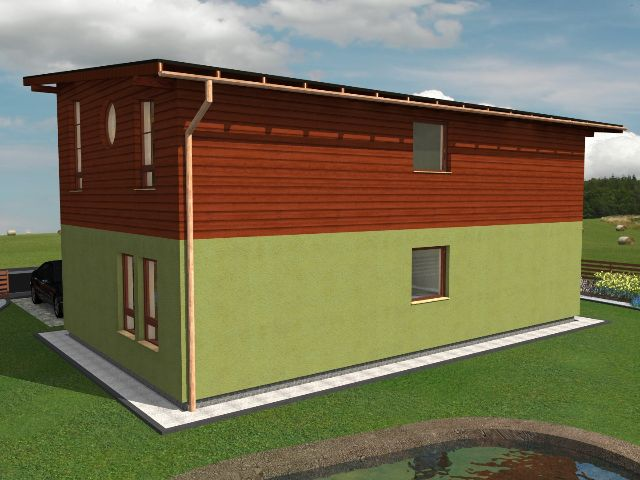 Haus mit Pultdach Trendhaus 03 - Seitenansicht