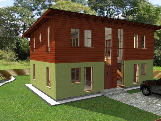 Haus mit Pultdach Trendhaus 03 - Haiseingang