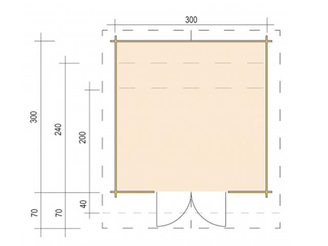 Gerätehaus H28-3024P-DT - Grundriss