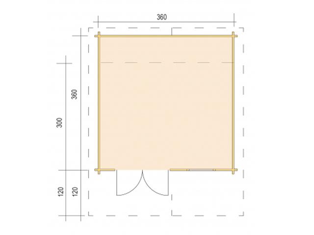 Gerätehaus H45-3630-DT-EF 360 - Grundriss