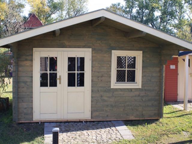 Gerätehaus H45-3630-DT-EF 360 - Außenansicht