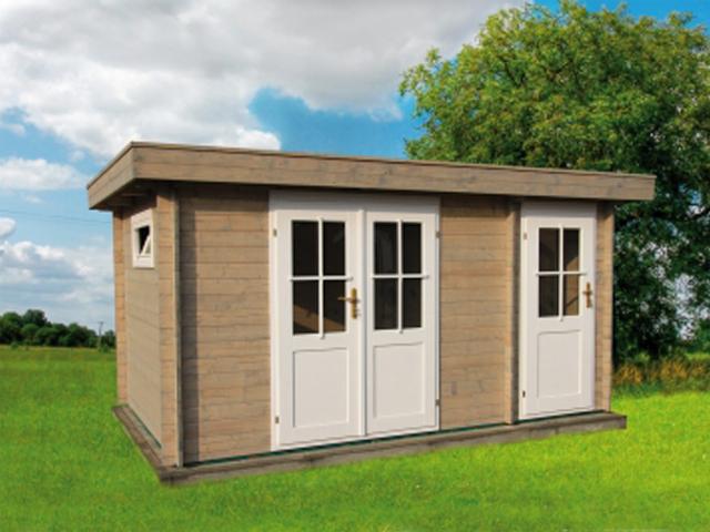 Gerätehaus H28AN-3924F-DT - Außenansicht