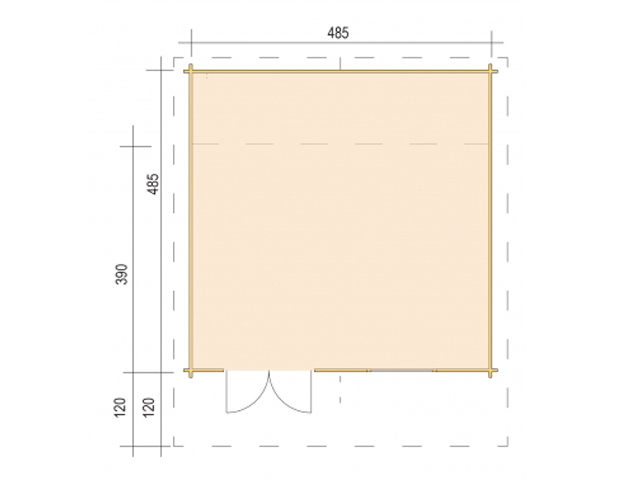 Gerätehaus 45-4839-DT-DF - Grundriss