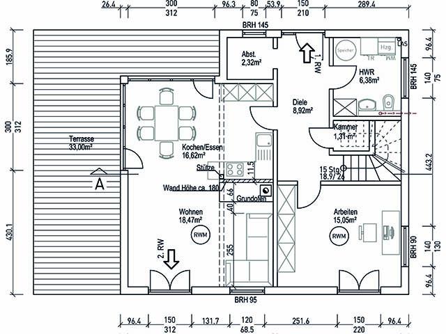 Aktionshaus Wendy - Grundriss Erdgeschoss
